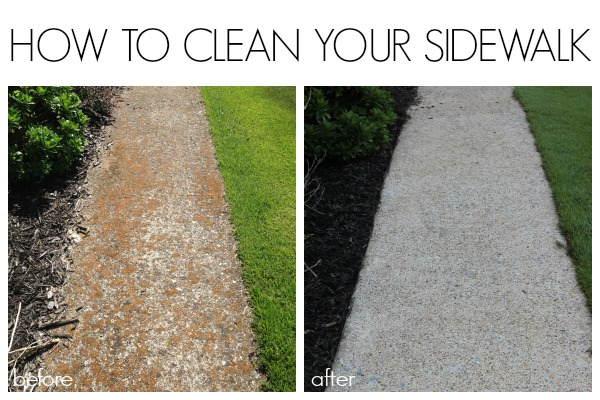 is clean and pretty by following this method for cleaning a sidewalk. Black Bedroom Furniture Sets. Home Design Ideas