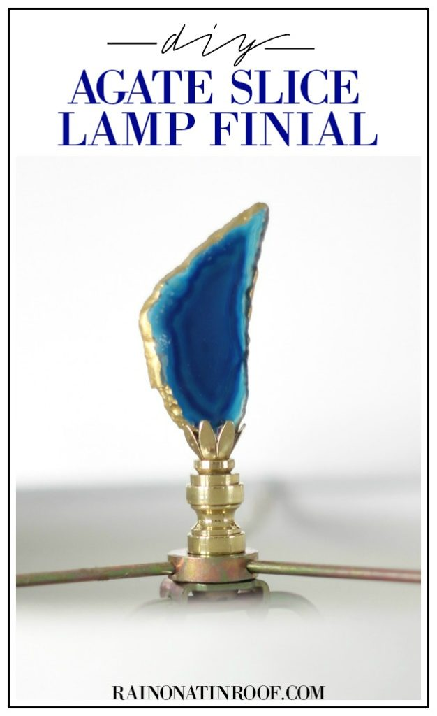 DIY Agate Slice Lamp Finials: GORGEOUS - and simple to make!