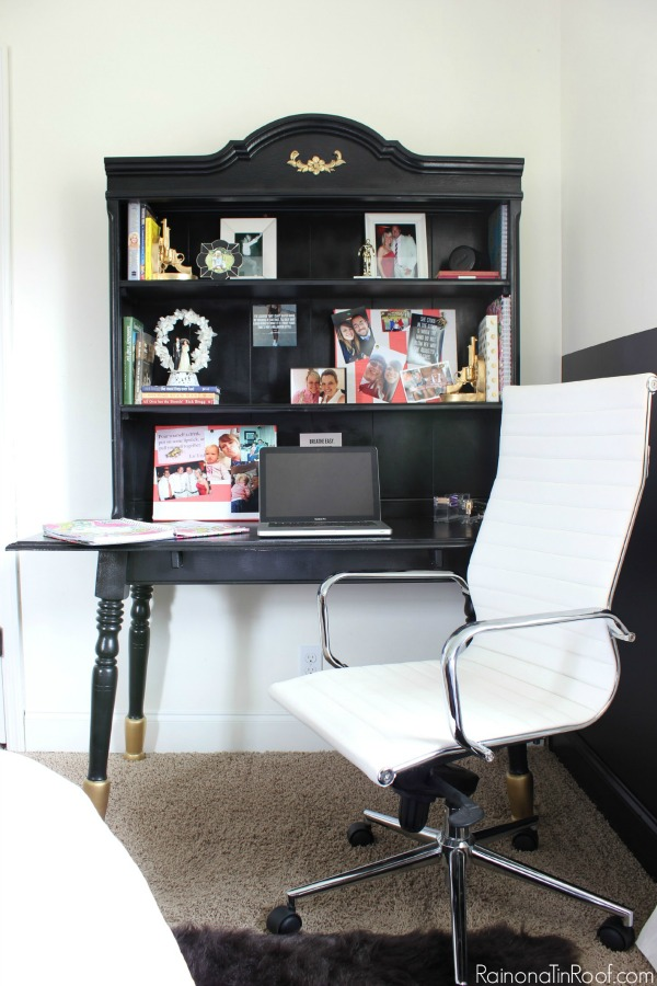 Masculine Bedroom + Office Makeover Full Source List / Black and White Bedroom / Black and White Interior Design / Vintage Inspired Interior Design / Office Space / Comfortable but Stylish Office Chair