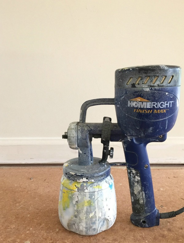 Painting Baseboards with a Paint Sprayer