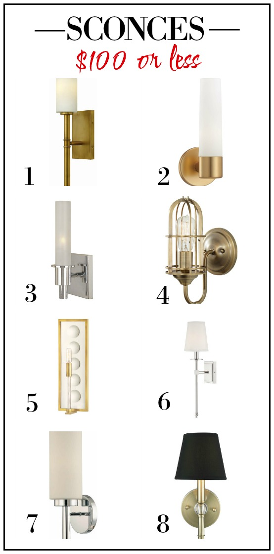 Wall Sconces Under 100 : Lighting for USD 300 or Less
