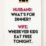What's for dinner? Wherever kids eat free tonight.