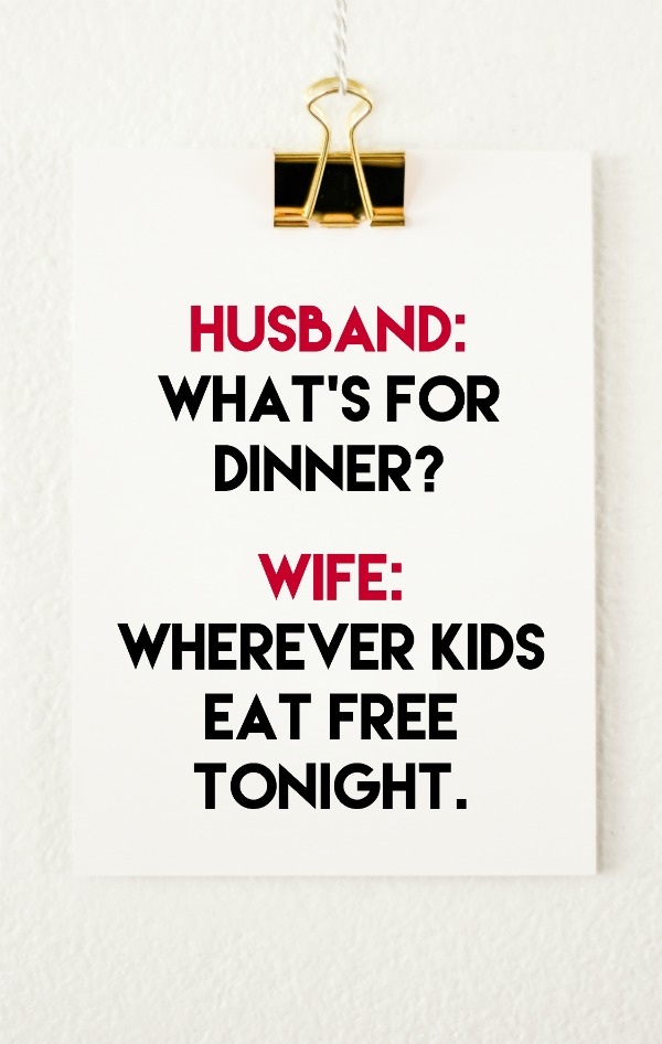 Where do kids eat free tonight?
