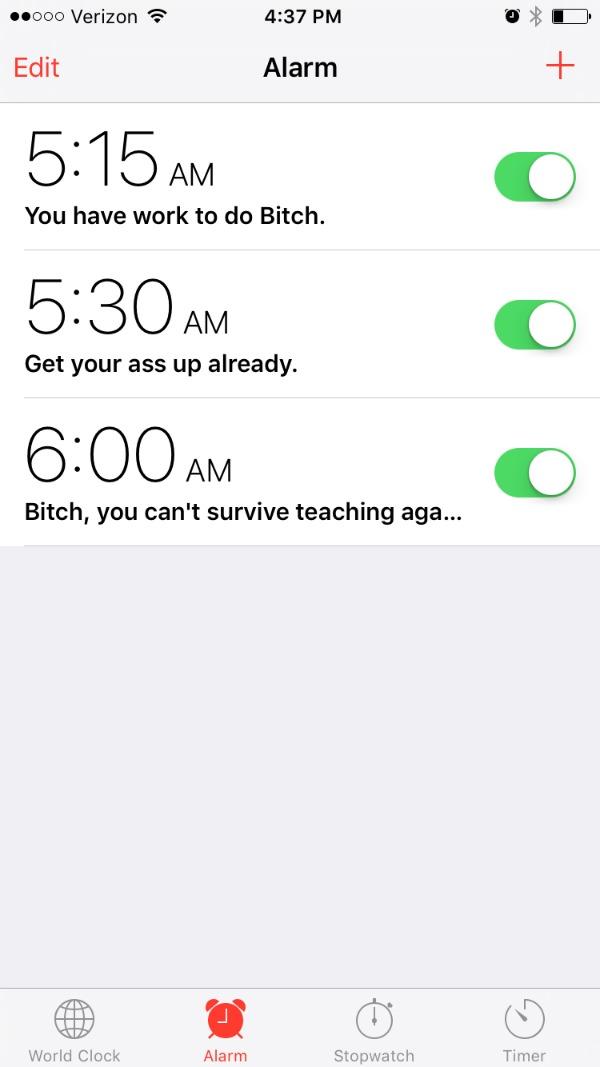 Funny Alarm Names