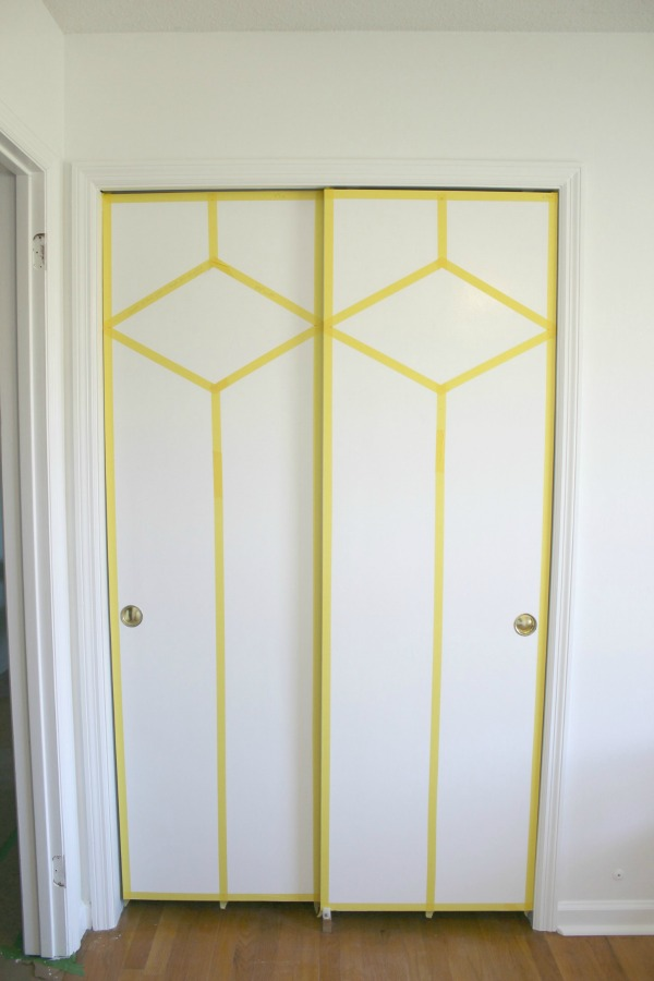 Stunning - AND she did it with paint and FrogTape! DIY Painted and Patterned Doors & DIY Painted and Patterned Doors