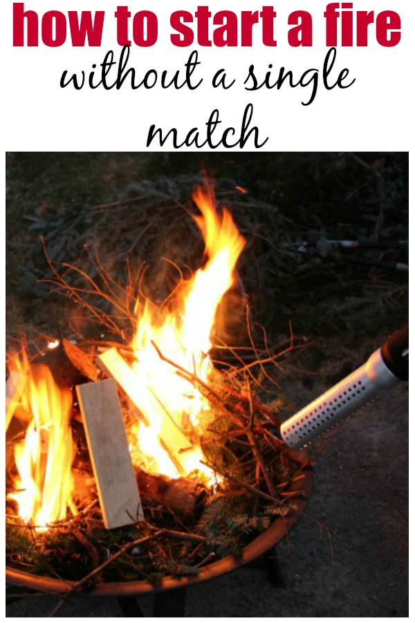 how to start a fire in a fire pit fast homeright. Black Bedroom Furniture Sets. Home Design Ideas