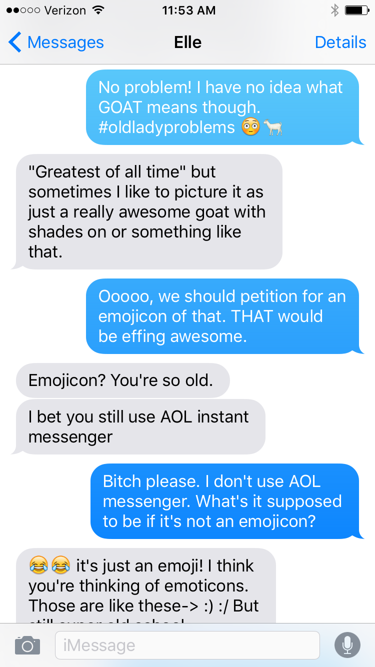 You're so GOAT.