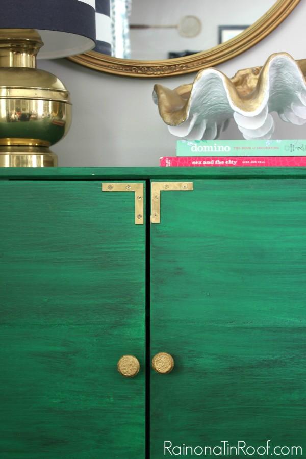 Decorating with Green: IKEA Tarva turned Bar Cabinet   IKEA Hack   DIY Bar