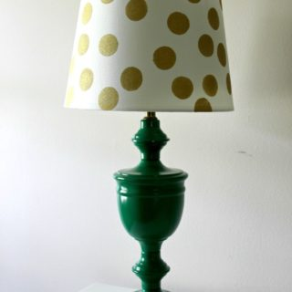 Kate Spade Inspired Lamp Makeover