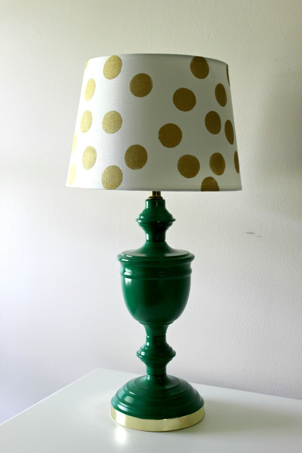 Simple And Cheap Kate Spade Inspired Lamp Makeover