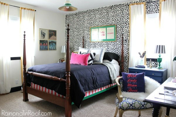 Spring Home Tour: The Evolution of Style | The Guest Bedroom | Leopard Print Wall