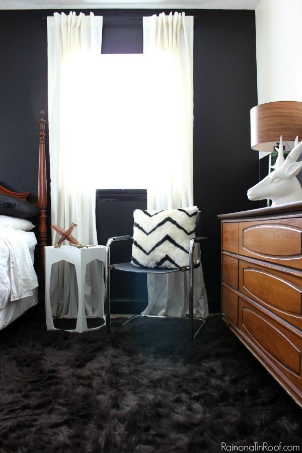 Spring Home Tour: The Evolution of Style | Masculine Bedroom Makeover | Vintage Dresser | Black Walls