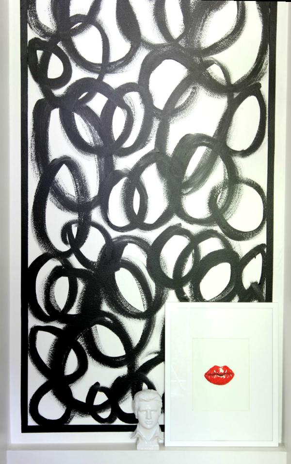 Abstract Circles Accent Wall