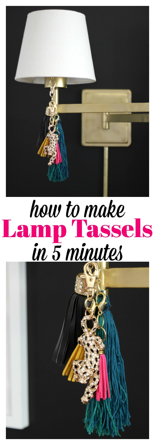 These are GORGEOUS! And I had no clue they were SO simple to make! How to Make Lamp Tassels in Five Minutes | Easy Crafts | Easy Home Decor Projects | DIY Home Accessories | DIY Tassels