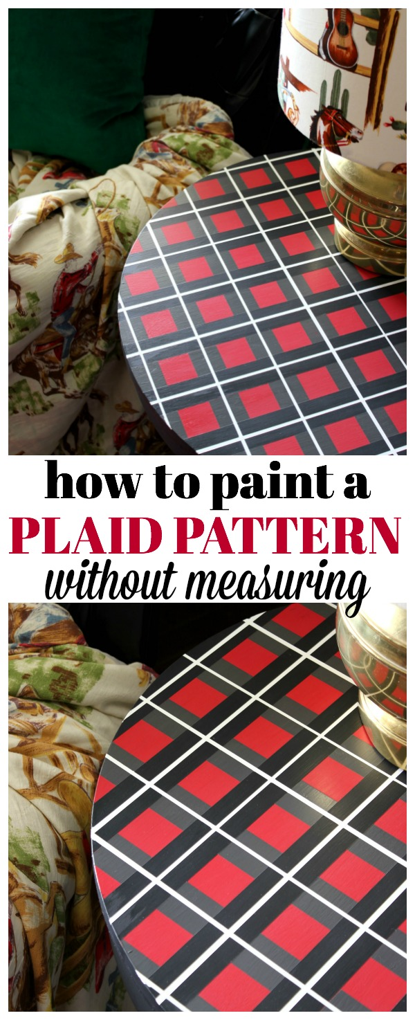 How to Paint a Plaid Pattern | DIY Furniture Makeovers | DIY Painting Ideas | Painting Techniques | Painted Furniture Ideas