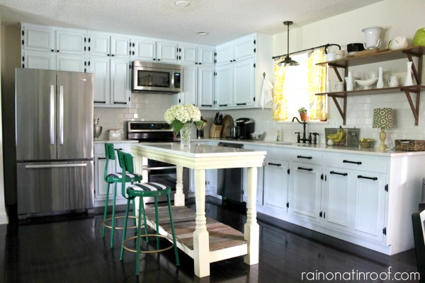 Spring Home Tour: The Evolution of Style | Kitchen Remodel | White Kitchens | DIY Kitchen Island