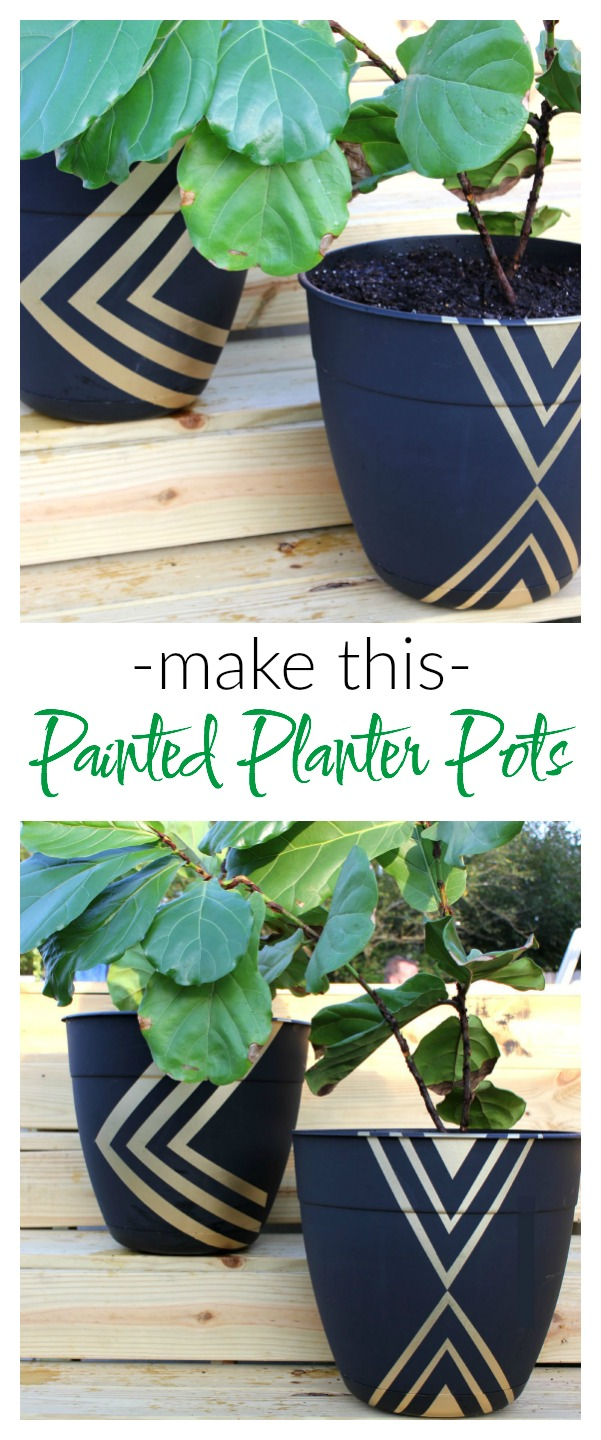 how to make glow in the dark painted planters
