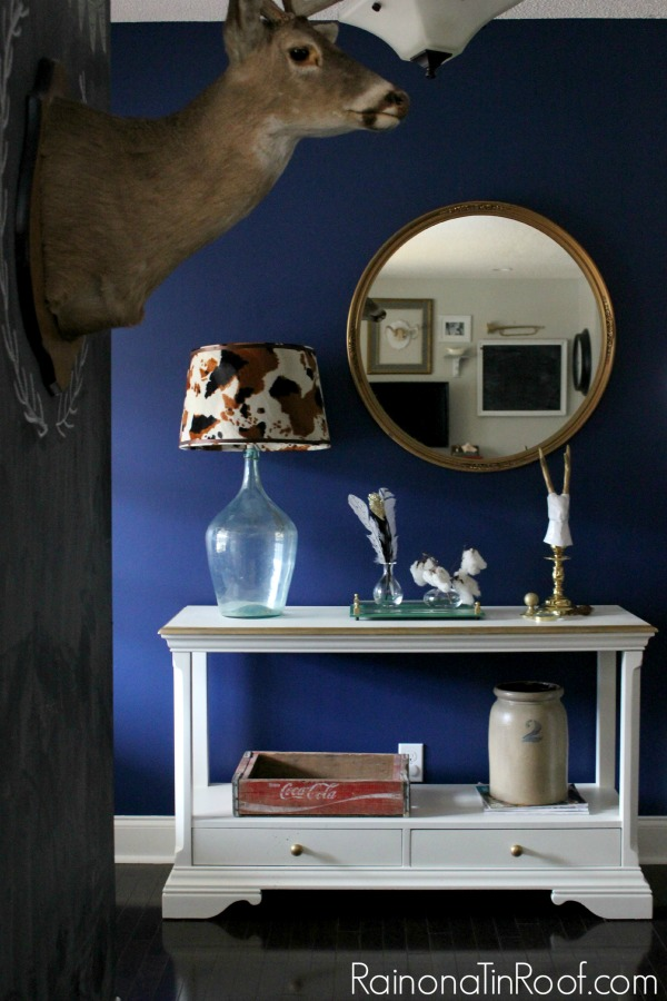 Spring Home Tour: The Evolution of Style | Rich Navy Entryway