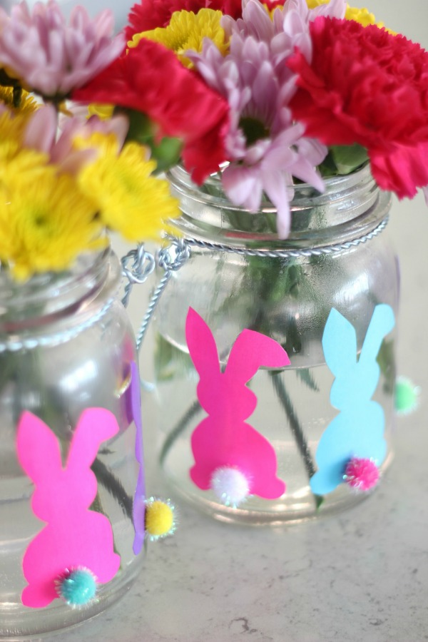 Oh my word! These are just too darn adorable - she shows you exactly how to make them and they are just SO easy! Make This: Simple Bunny Vases for Easter | Easter Crafts | Easter Crafts for Kids | Simple Easter Crafts