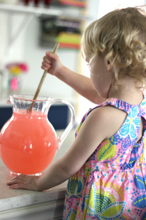 Pink lemonade spills are my favorite…
