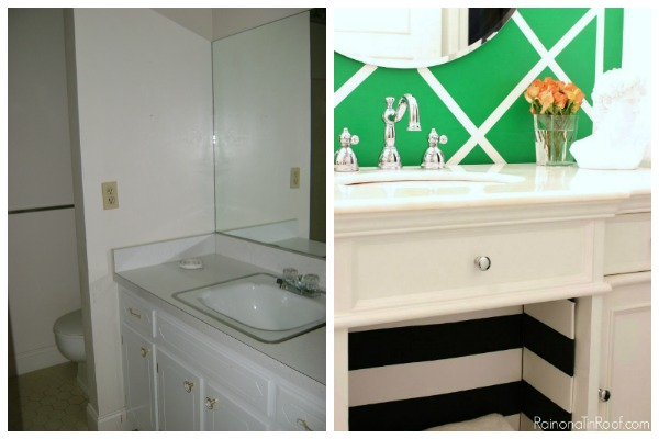 Renovate for YOU! Lots of great ideas in this article about home renovating and great resources too! Bathroom before and after renovation / Budget Bathroom Renovation / Bathroom Remodel