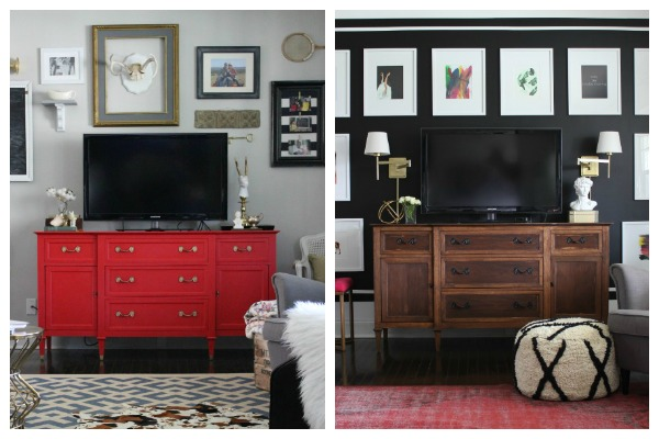 How to Decorate With Inherited Pieces without Making Your Grandparents Roll Over In Their Graves: It's ok to paint it.