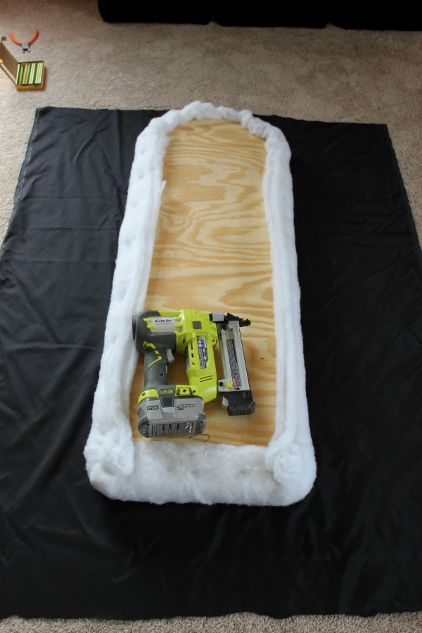 The beginnings of a headboard.
