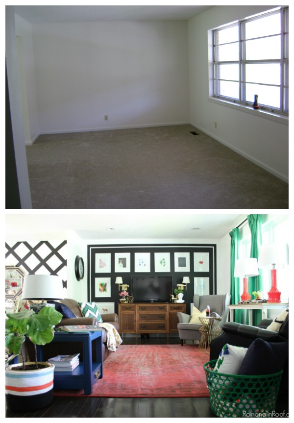 Renovate for YOU! Lots of great ideas in this article about home renovating and great resources too! Renovated living room - wall was removed. Living Room Design / Living Room Decor / Eclectic Decor