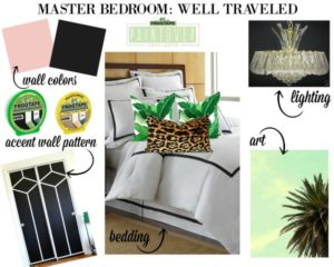 The 70's Landing Pad: Well Traveled Master Bedroom Design