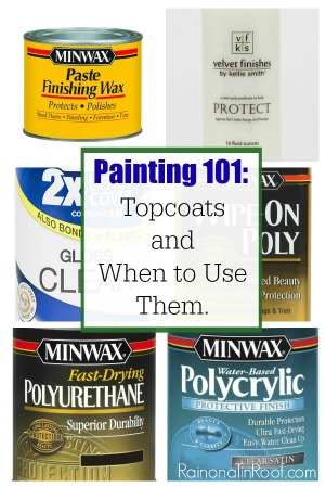 Topcoats can be SO confusing! This article breaks them each down and tells you which ones to use one. GREAT info for protecting your pieces of painted furniture! A must-know for anyone who is painting furniture!