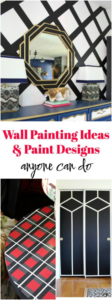 Wall Painting Ideas and Paint Designs ANYONE Can Do! This article is FULL of DIY painting ideas including wall painting techniques, wall painting designs and other painting ideas!