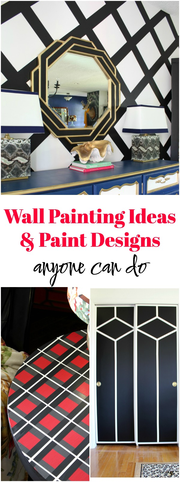 Wall Painting Ideas and Paint Designs | DIY Feature Wall Ideas | DIY Accent Wall Ideas | How to Paint a Feature Wall | How to paint Patterns