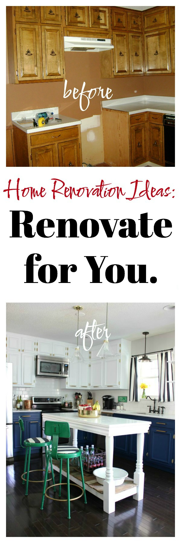Renovate for YOU! Lots of great ideas in this article about home renovating and great resources too!