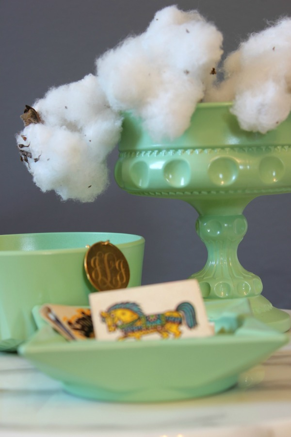 How to Accessorize a Space Without Over-Accessorizing - gives great guidelines and suggestions for using just the right amount of home accessories to make a big decorating impact! This is faux jadeite!