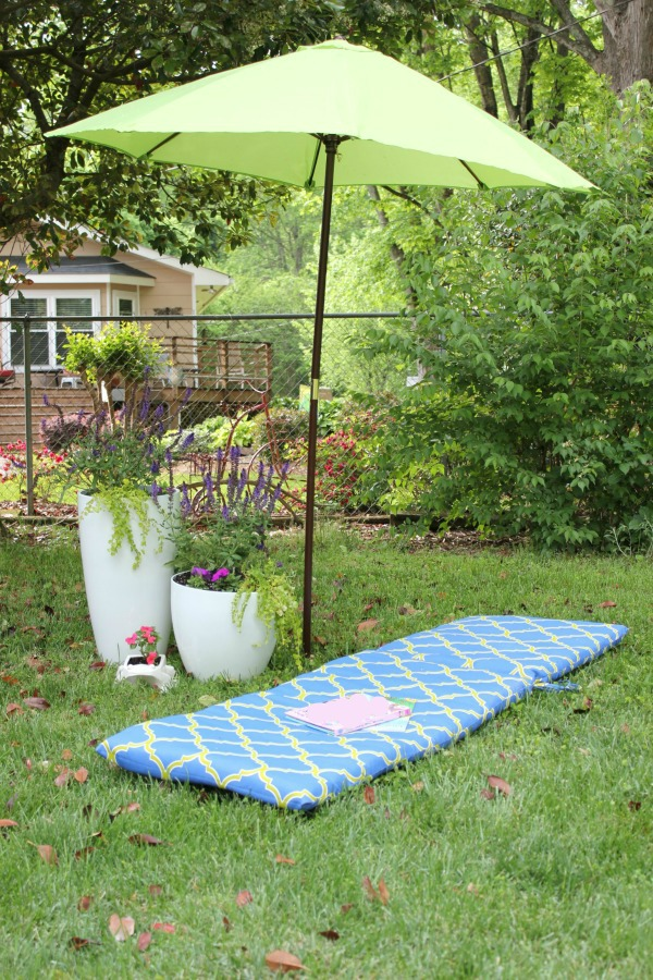 Outdoor Spring Decorating: Chairs Optional.