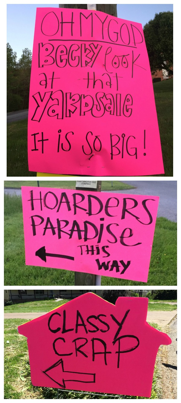 The BEST Yard Sale and Garage Sale Tips: Have stellar yard sale signs!
