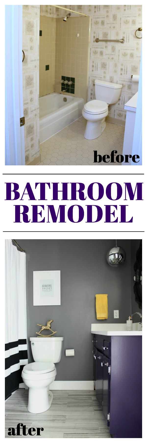 70's House Bathroom Remodel | Gray Bathroom Remodel | Kid's Bathroom Ideas | DIY Bathroom Renovation | Bathroom Ideas