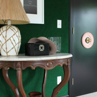DIY Green Carpet Covered Wall