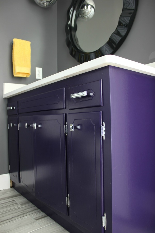 bathroom vanity painted with behr artistic license