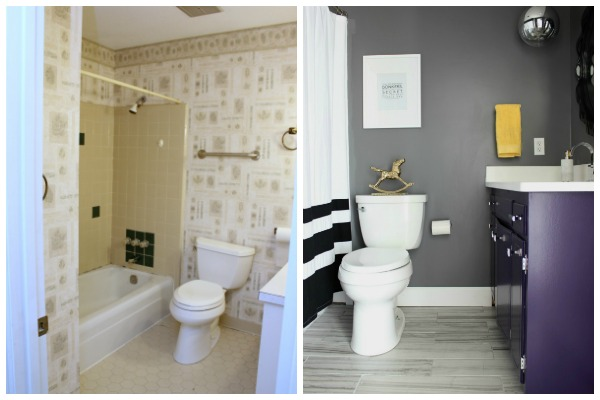 DIY Bathroom Remodel on a Budget | DIY Bathroom Remodel Ideas | Gray Bathroom | Kid's Bathroom