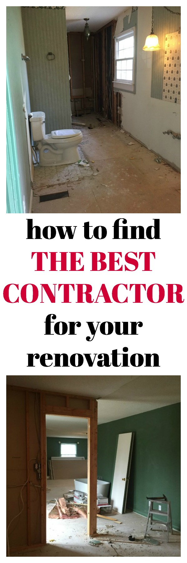 Very valuable information - How to Find the Best Contractor for Your Renovation - Must read tips if you are considering a home renovation or remodel!