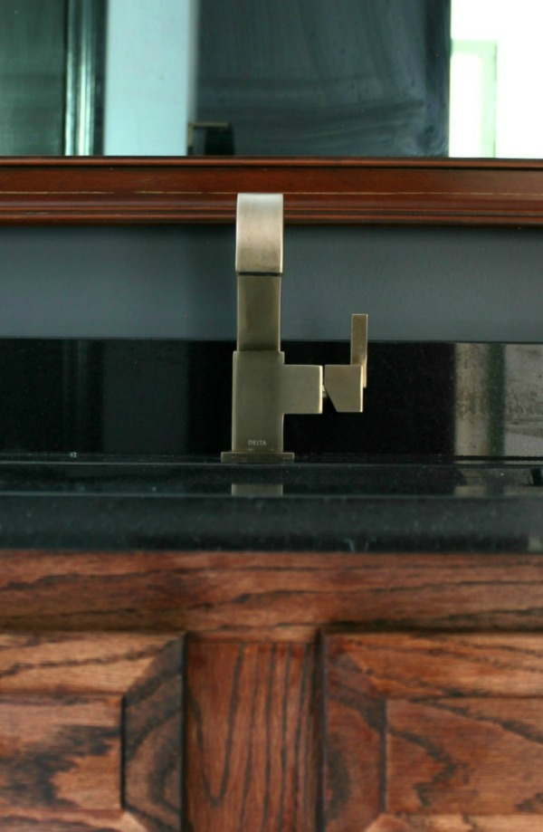 Master Bathroom Remodel | Delta Vero Single Handle Lavatory Faucet in Champagne Bronze