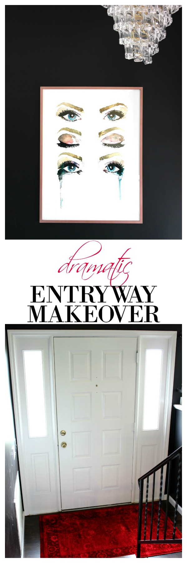 Dramatic split foyer entryway makeover for Bi level foyer ideas