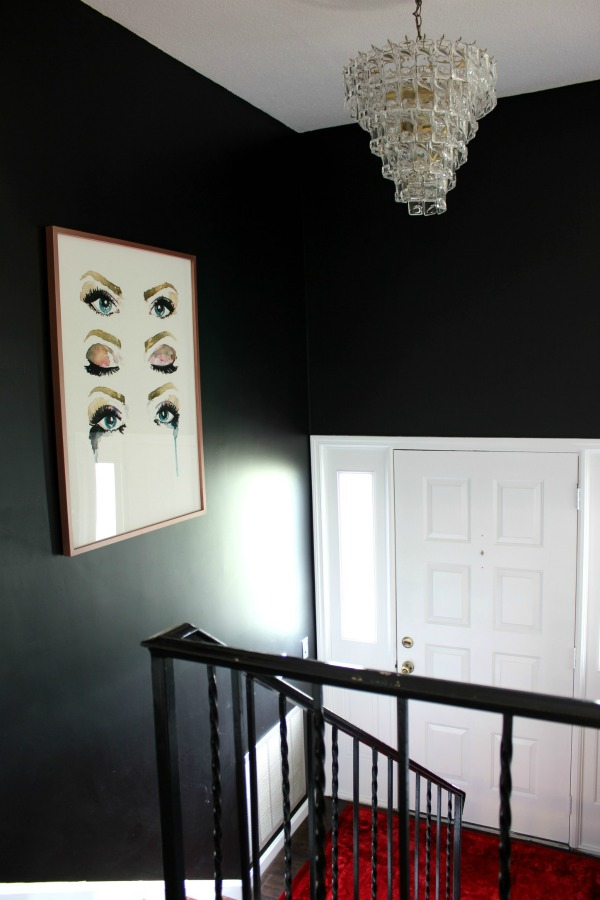 Split Entry Foyer Lighting : Dramatic split foyer entryway makeover