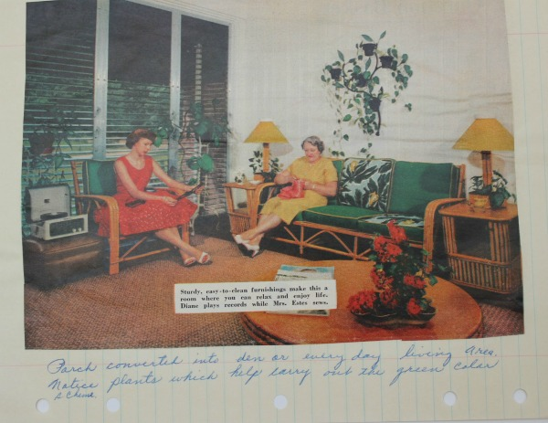 A page from Grannie's Interior Design Playbook...1950's and 1960's Interior Design Photos