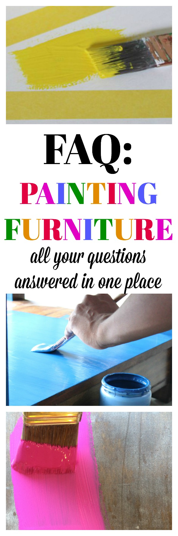FAQ: Painting Furniture | Every question you have about painting furniture answered in one place! Great information for beginner furniture painters!