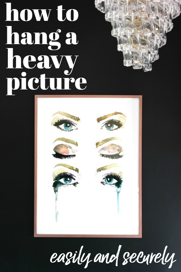 Secure and Easy Way to Hang Heavy Art - Eyes Oversized Art - Rain on a Tin Roof