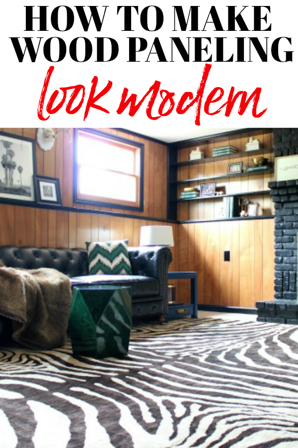 Wood Paneled Den: How To Make Wood Paneling Look Modern Without Painting It