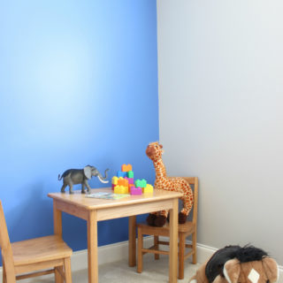 A Simple Blue Accent Wall for the Circus