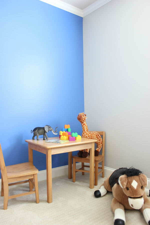 simple blue accent wall tutorial